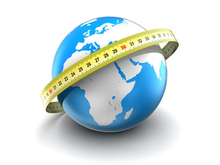 measure earth globe