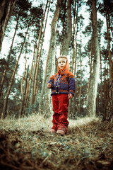 girl in pine woodes