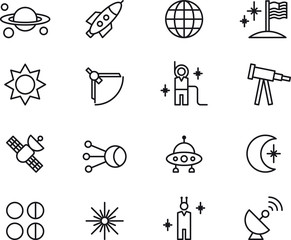 Atronomy, Astrology & Space icons