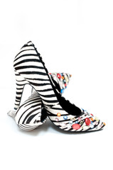 Sexy Zebra print high heeled women's shoes