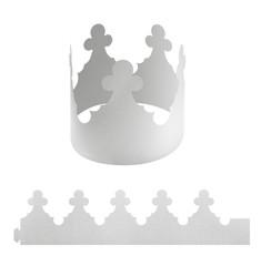Blank paper crown