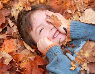 feuilles et joie