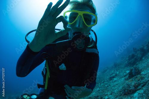 canvas print picture Scuba Diver