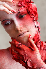 Beautiful, artistic makeup