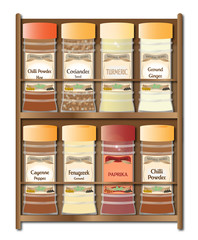 Spicy Spice Rack On White
