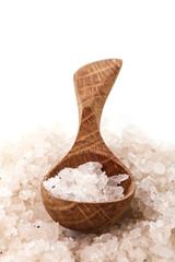 Heap of sea salt