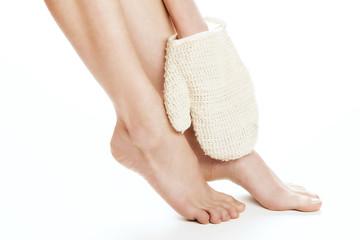 Woman feet  treatment