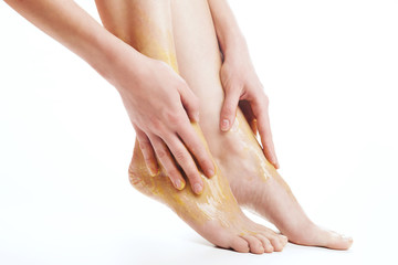 Woman feet  treatment