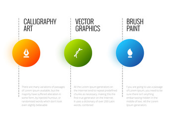 Vector abstract infographic template with place for  text