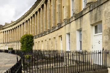 columns at the Royal crescent, Bath