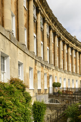 curved facade at the Royal crescent, Bath