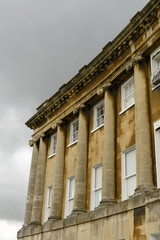 columns and clouds at the Royal crescent, Bath