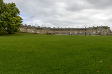 lawn at the Royal crescent, Bath