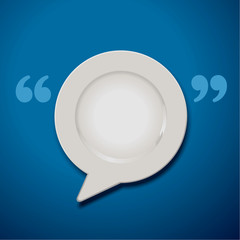 Vector of Quotation Marks Speech Plate Icon
