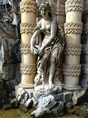 figure in the zwinger palace in Dresden, Germany