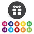 Gift box sign icon. Present symbol
