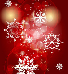Abstract Beauty Christmas and New Year Background. Vector I