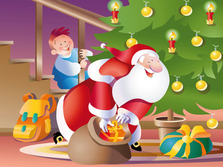 vector_santa claus eve
