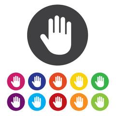 hand icon button