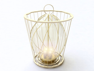 Vintage Lantern in 3D