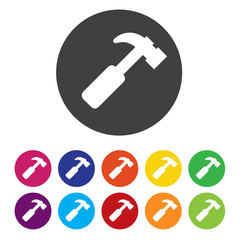 Hammer sign icon. Repair service symbol.