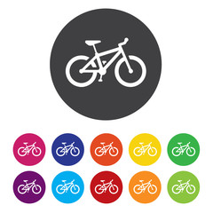 Bicycle sign icon. Eco delivery. Family vehicle symbol.