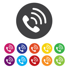 Phone sign icon. Support symbol. Call center.