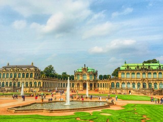 in the zwinger palace in Dresden, Germany