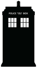 Police Telephone Box Silhouette