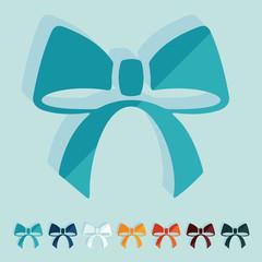 Flat design: ribbon