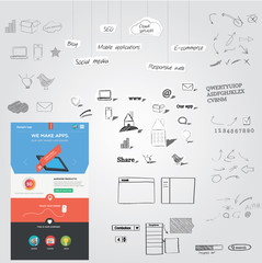 Huge collection of web graphics + website template