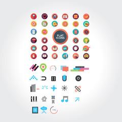 Flat designed icons