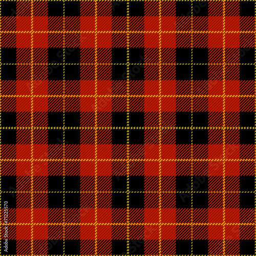 Fotobehang Stof Red Tartan Plaid Design