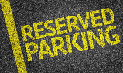 Parking space reserved for Reserved shoppers