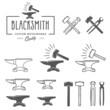Vintage blacksmith labels and design elements