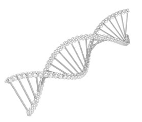 Illustration of wire-frame DNA chain