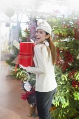 woman who runs away with her christmas gift