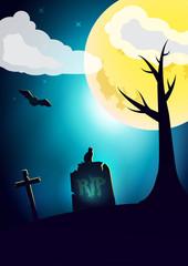 Vector halloween wish card