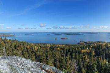 Autumnal view from Koli to Lake Pielinen
