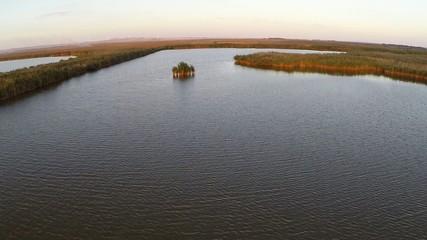 Danube Delta national park, aerial view.