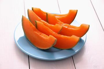 Cantaloupe melon as healthy refreshment