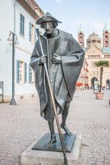 Statue Jakobspilger in Speyer