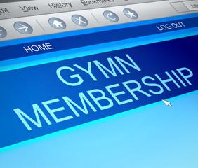 Gymn membership concept.