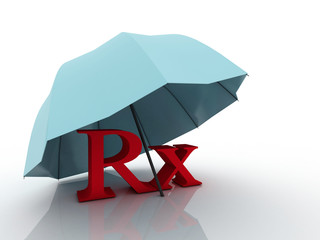 3d imagen RX pharmacy medical symbol
