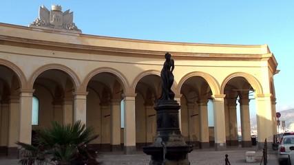 Piazza Mercato del Pesce (Square Fish Market) in Trapani. Sicily