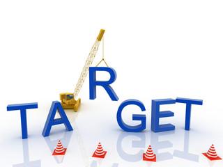 3d imagen Target concept word cloud background