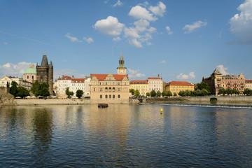 Vltava river crossing Prague
