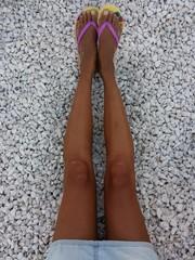 Gambe abbronzate
