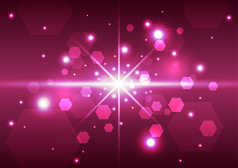 Abstract technology space background, vector illustration