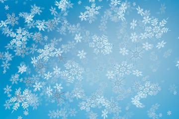 christmas snow fall crystals